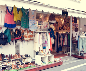 shop, bag, and clothes image