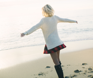 beach, blonde, and winter image
