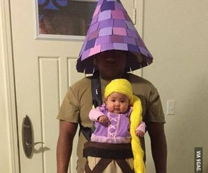 baby, funny, and rapunzel image