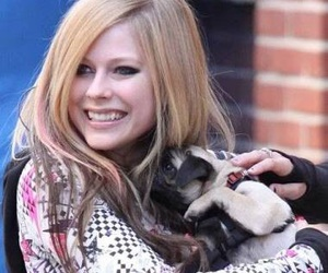 Avril Lavigne, dog, and cute image