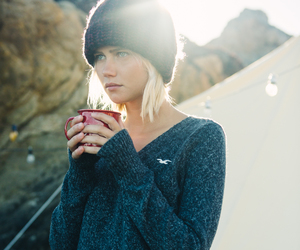 winter, coffee, and hat image