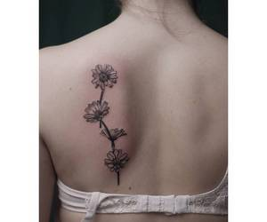 daisy, Tattoos, and flowers image