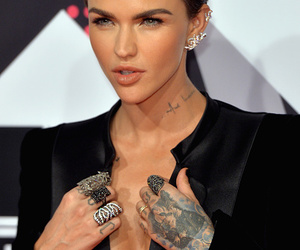 ruby rose, tattoo, and black image