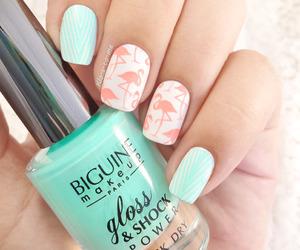 beautiful, nail, and girl image