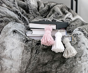 book, winter, and blanket image