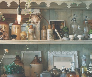 bottles, jars, and rustic image