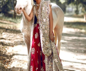 girl, horse, and indian image