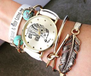 be brave, bracelets, and elephant image