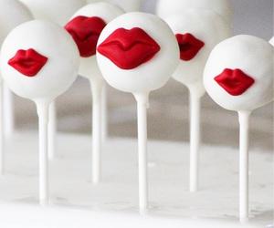 cake, lips, and sweet image
