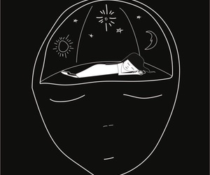black, art, and sleep image