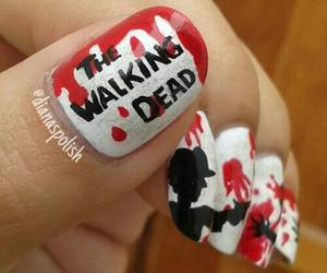 nails, blood, and the walking dead image