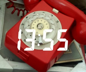 red, retro, and telephone image