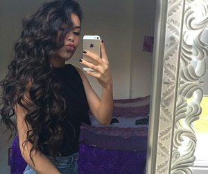 hair, brunette, and girl image