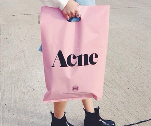 acne, pink, and grunge image