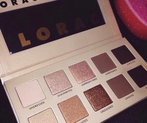 gold, makeup, and lorac image