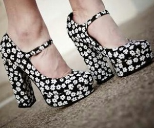 floral, sapatos, and cute image