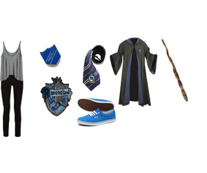 blue, harry potter, and Polyvore image