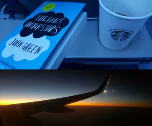 book, starbucks, and sunrise image
