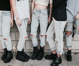 jeans, grunge, and style image