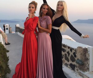 dress, luxury, and friends image