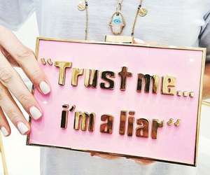 Liars, pink, and trust image