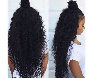 beauty, curly, and hair goals image