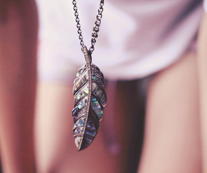 beautiful, feather, and girl image