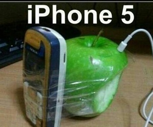 apple, iphone, and funny image