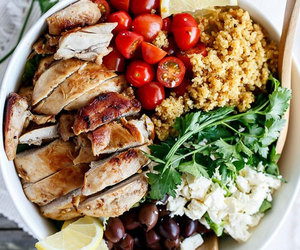 Chicken, fit, and food image