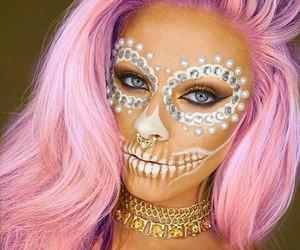 Halloween, makeup, and white image