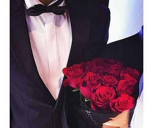 boy, flowers, and roses image