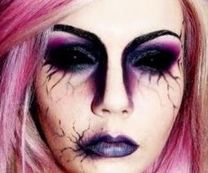 Halloween, makeup, and pink image