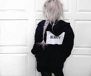 hair, black, and grunge image