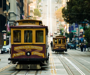 cable car, california, and Dream image