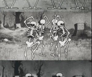 black, lockscreen, and spooky scary skeletons image