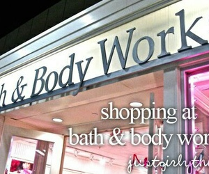 just girly things, shopping, and bath image