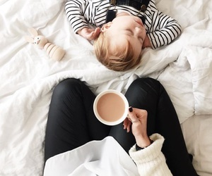 baby, coffee, and child image