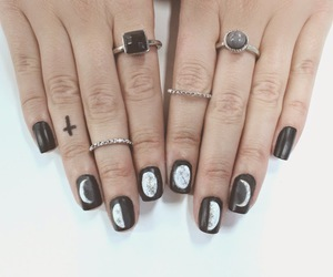 black, I love it, and rings image