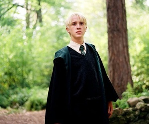 draco malfoy, harry potter, and slytherin image