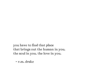 quotes, rm drake, and love image