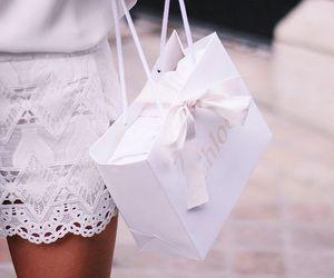 bag, girl, and bow image