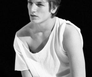 black and white, model, and hugo sauzay image