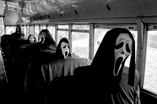 Black And White Bus Creepy Funny Gore Inspiring Picture On