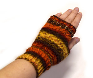 autumn colors, fingerless gloves, and fingerless mittens image