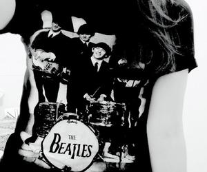 beatles, black and white, and john image