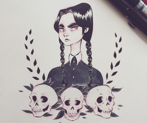 addams family, drawing, and lovely image