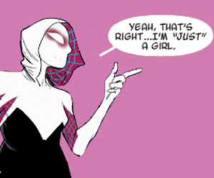 comic, gwen stacy, and spider gwen image