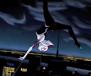 comic, Marvel, and spider gwen image