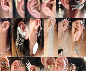 ear, fashion, and earing image