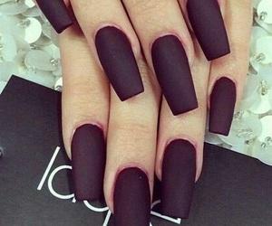 nails, black, and dark image
